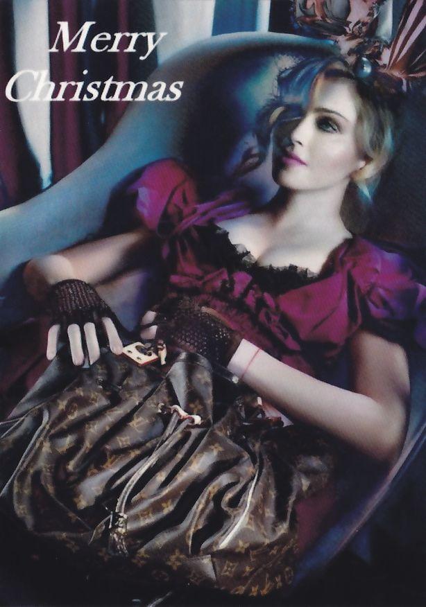 Kaartje2go Madonna Merry Christmas